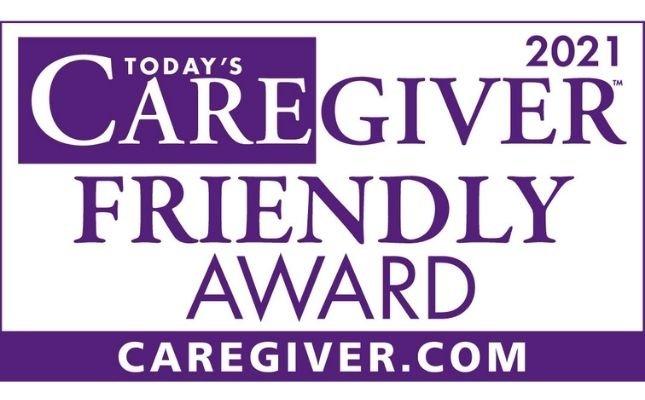 Winner – 2021 Caregiver Friendly Award!