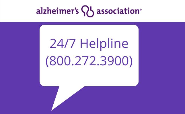 Alzheimer's Association 24/7 Helpline