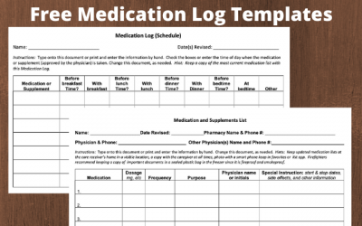 Free Medication Log Templates